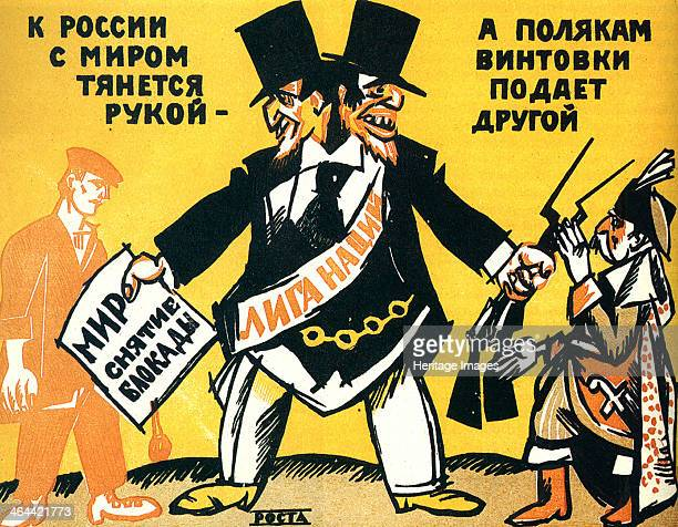 Satirical poster on the League of Nations 1920 Rosta was the state news agency in Russia from 1918 until 1935 Between 1919 and 1921 the organisation...