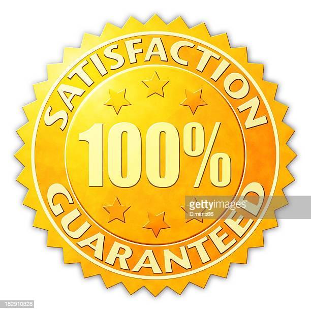 Satisfacción garantizada tarjeta