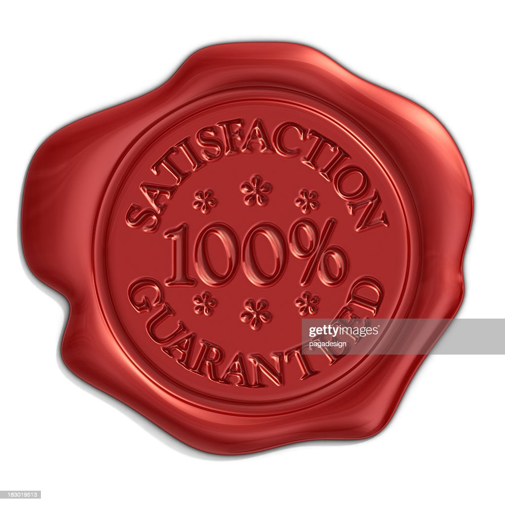 satisfaction seal : Stock Photo