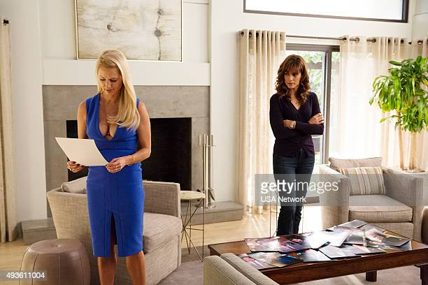 SATISFACTION 'Satisfaction'Through Family' Episode 209 Pictured Katherine LaNasa as Adriana Stephanie Szostak as Grace Truman