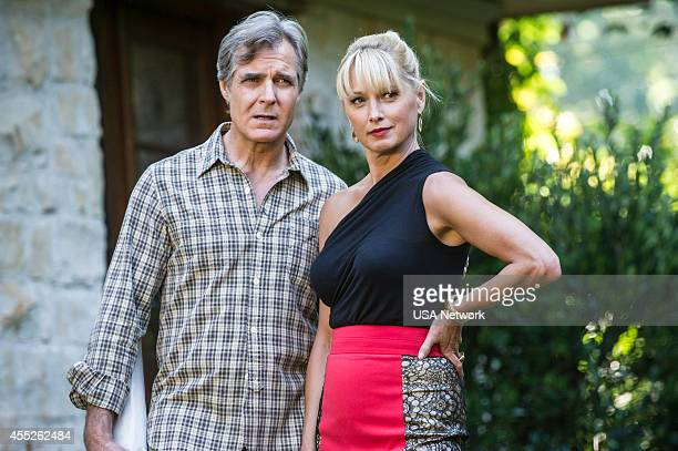 SATISFACTION 'SatisfactionThrough Resolution' Episode 110 Pictured Henry Czerny as Fisher Katherine LaNasa as Adriana