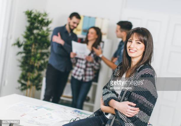 Satisfied businesswoman