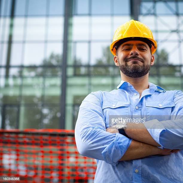 Satisfied  construction manager