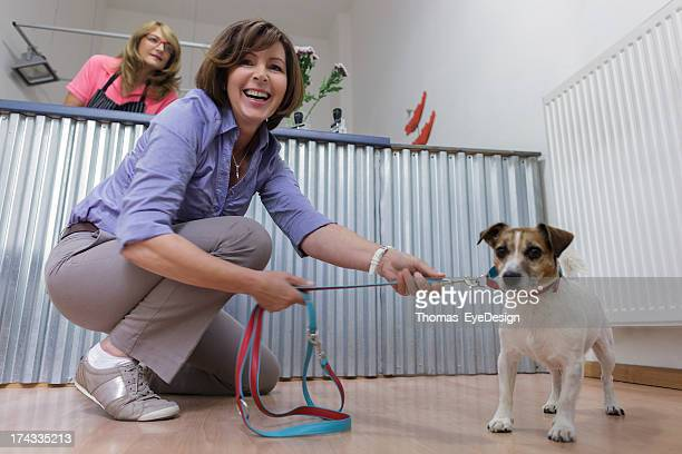 Satisfied Customer in Pet Grooming Salon