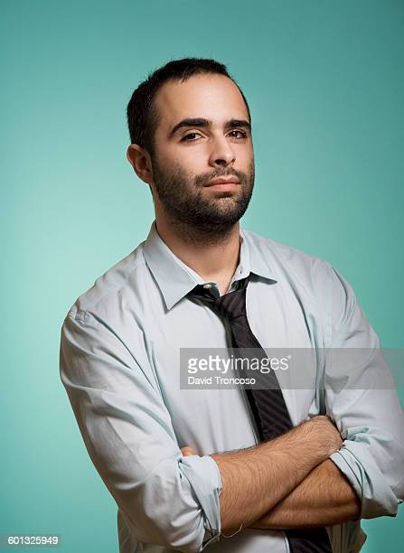 satisfied guy at the office - waist up stock pictures, royalty-free photos & images