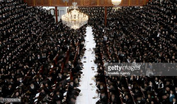 Satmar Jews gather to celebrate the Sukkot, the Feast of the Tabernacles, in New York, United States on October 22, 2019.
