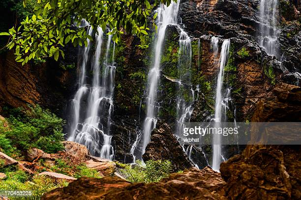 satoddi waterfall - karnataka stock pictures, royalty-free photos & images