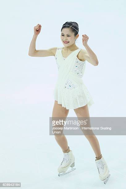 Satoko Miyahara of Japan competes during Senior Ladies Free Skating on day three of the ISU Junior and Senior Grand Prix of Figure Skating Final at...