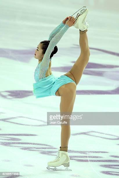 Satoko Miyahara of Japan competes during Senior Ladies Short Program on day two of the ISU Grand Prix of Figure Skating 2016 at Palais Omnisports...