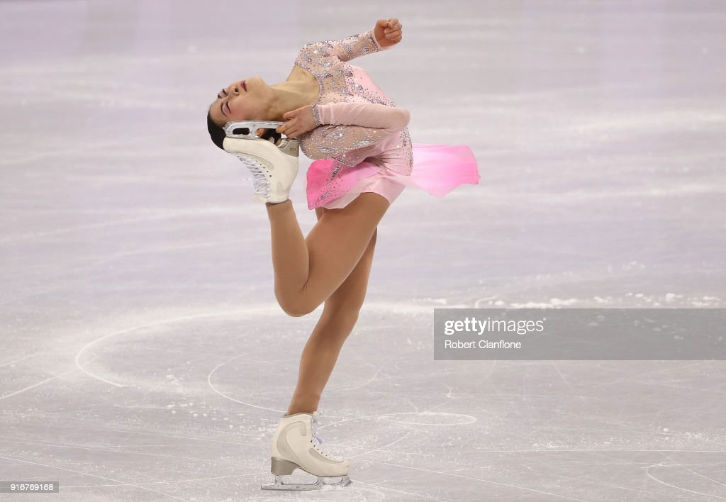 Figure skating winter olympics day 2 satoko miyahara of japan competes during the figure skating team event ladies short program voltagebd Gallery