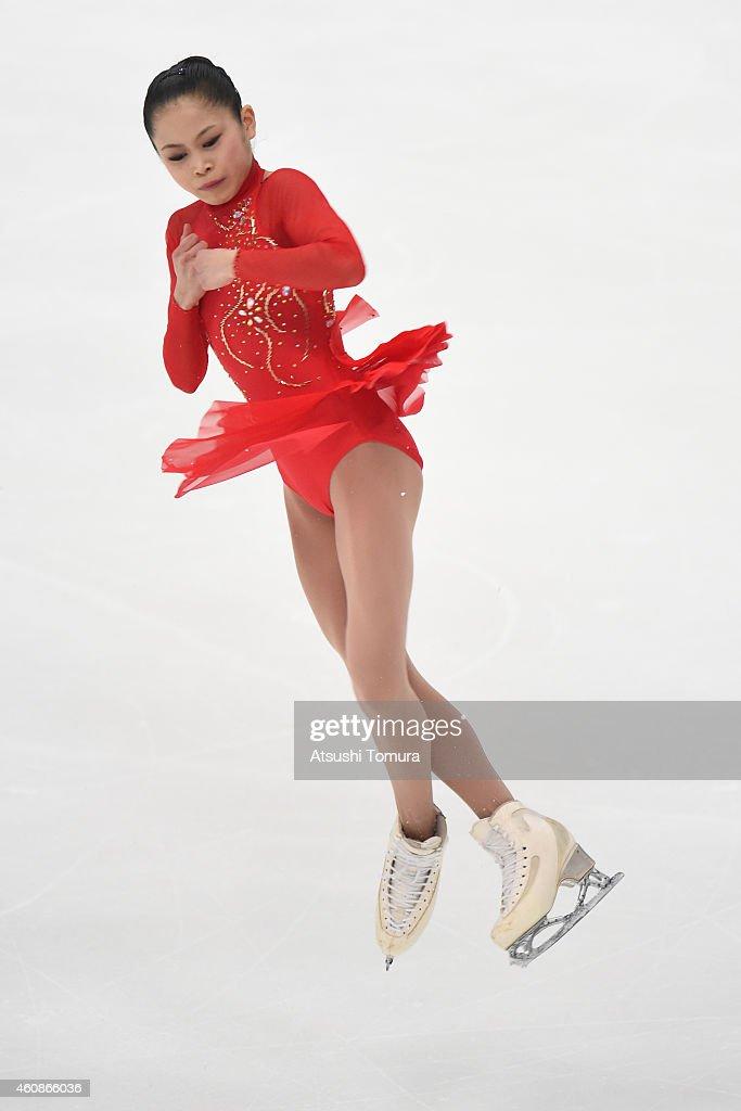 Satoko Miyahara of Japan competes in Ladie's Free Skating during the 83rd All Japan Figure Skating Championships at the Big Hat on December 28, 2014 in Nagano, Japan.