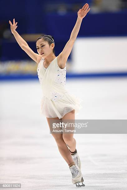 Satoko Miyahara of Japan competes in the Ladies free skating during the Japan Figure Skating Championships 2016 on December 25 2016 in Kadoma Japan