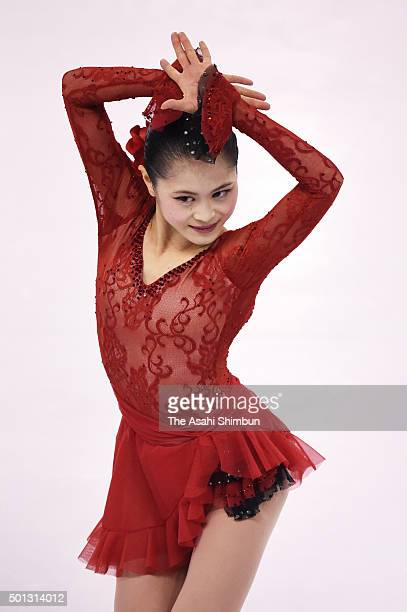 Satoko Miyahara of Japan competes in the Ladies' Short Program during day two of the ISU Grand Prix of Figure Skating Final at the Barcelona...