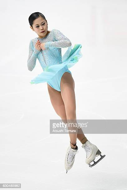 Satoko Miyahara of Japan competes in the Ladies short program during the Japan Figure Skating Championships 2016 on December 24 2016 in Kadoma Japan