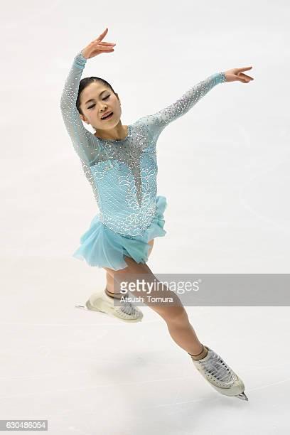 Satoko Miyahara of Japan competes in the Ladies short program during the Japan Figure Skating Championships 2016 on December 24 2016 in Kadoma Japan