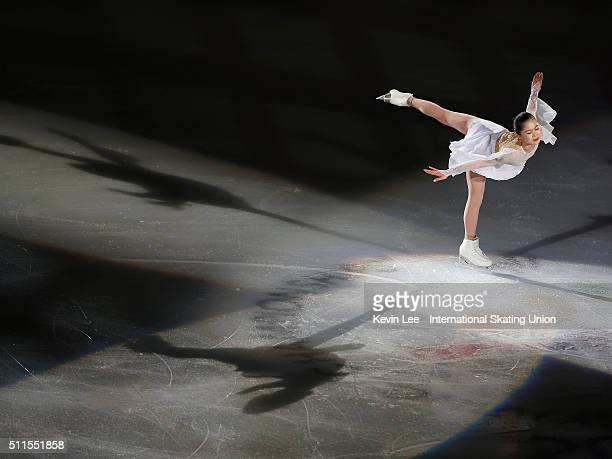 Satoko Miyahara of Japan performs at the Gala Exhibition on day four of the ISU Four Continents Figure Skating Championships 2016 at Taipei Arena on...