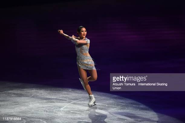 Satoko Miyahara of Japan performs during the exhibition gala on day five of the 2019 ISU World Figure Skating Championships at Saitama Super Arena on...