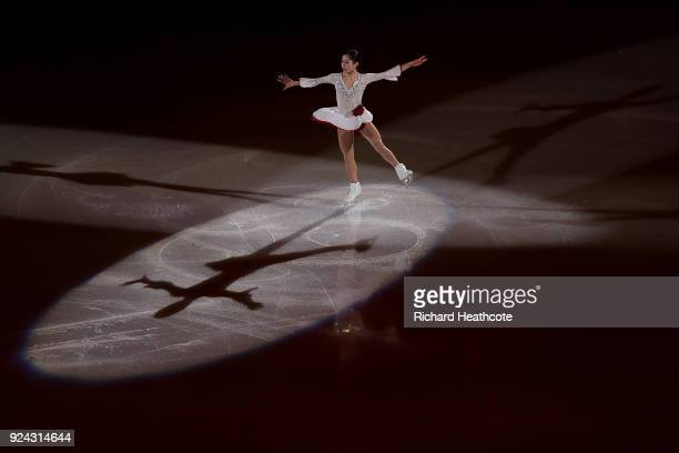 Satoko Miyahara of Japan performs during the Figure Skating Gala Exhibition on day 16 of the PyeongChang 2018 Winter Olympics at Gangneung Ice Arena...