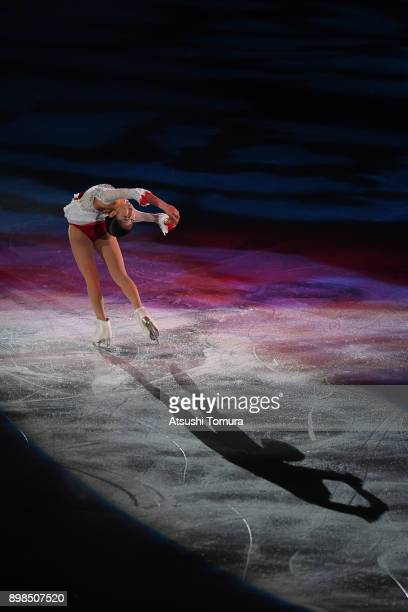 Satoko Miyahara of Japan performs her routine during the All Japan Medalist On Ice at the Musashino Forest Sports Plaza on December 25 2017 in Chofu...