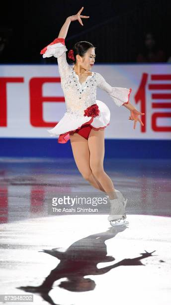 Satoko Miyahara of Japan performs in the gala exhibition during day three of the ISU Grand Prix of Figure Skating NHK Trophy at Osaka Municipal...