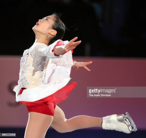 Satoko Miyahara of Japan performs in the gala exhibition during day four of the ISU Junior Senior Grand Prix of Figure Skating Final at Nippon Gaishi...