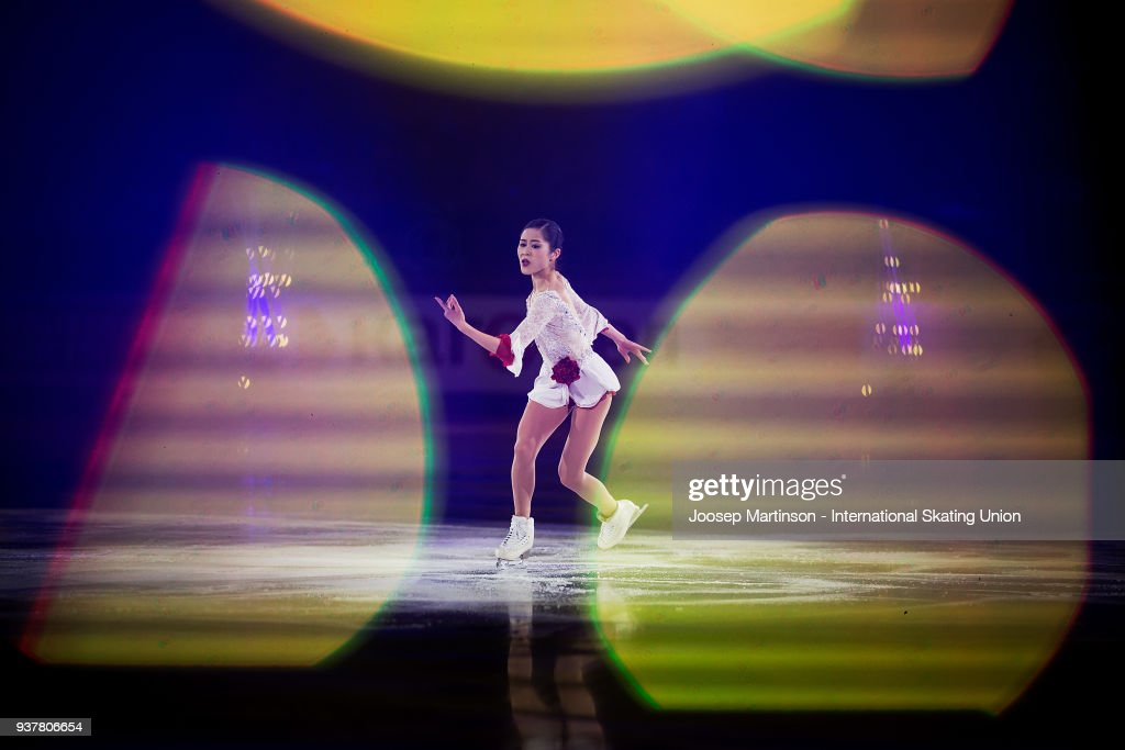 Satoko Miyahara of Japan performs in the Gala Exhibition during day five of the World Figure Skating Championships at Mediolanum Forum on March 25, 2018 in Milan, Italy.