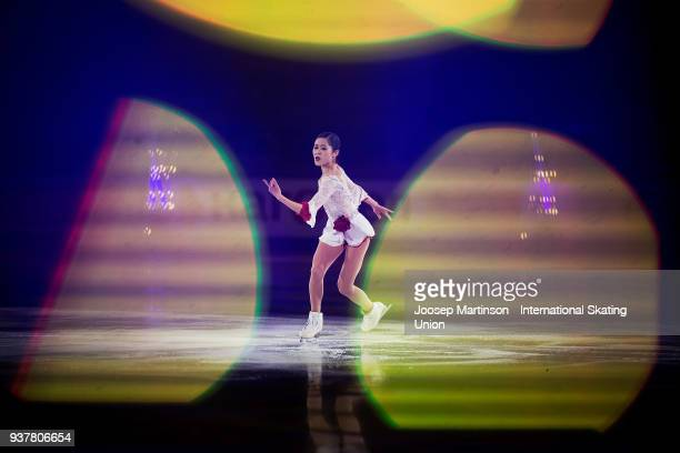 Satoko Miyahara of Japan performs in the Gala Exhibition during day five of the World Figure Skating Championships at Mediolanum Forum on March 25...