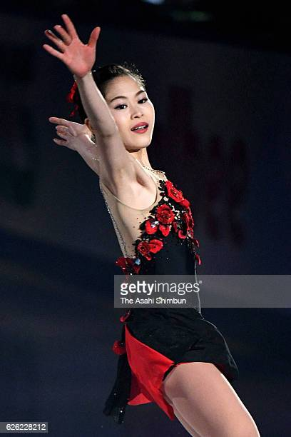 Satoko Miyahara of Japan performs in the gala exhibition during the ISU Grand Prix of Figure Skating NHK Trophy at Makomanai Ice Arena on November 27...