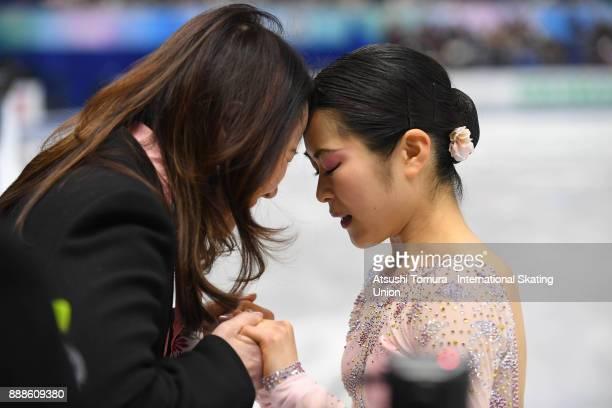 Satoko Miyahara of Japan prepares to perform before the ladies short program during the ISU Junior Senior Grand Prix of Figure Skating Final at...