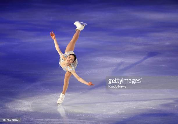 Satoko Miyahara performs during the exhibition gala of the Japanese figure skating national championships in Kadoma, Osaka, on Dec. 25, 2018. ==Kyodo