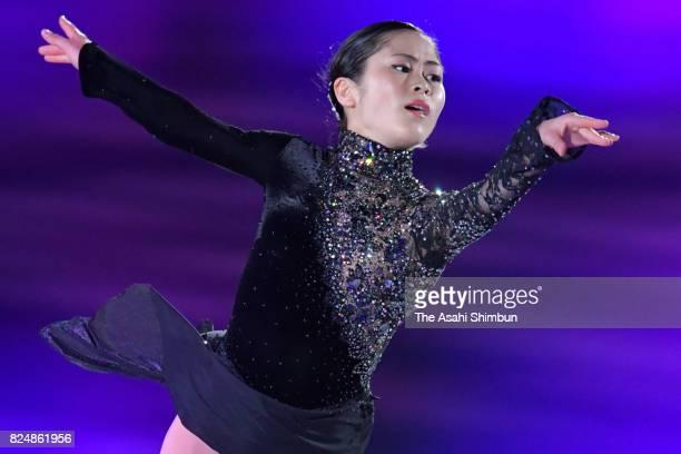 Satoko Miyahara performs during the figure skating show 'The Ice' at Osaka City Central Gymnasium on July 29 2017 in Osaka Japan