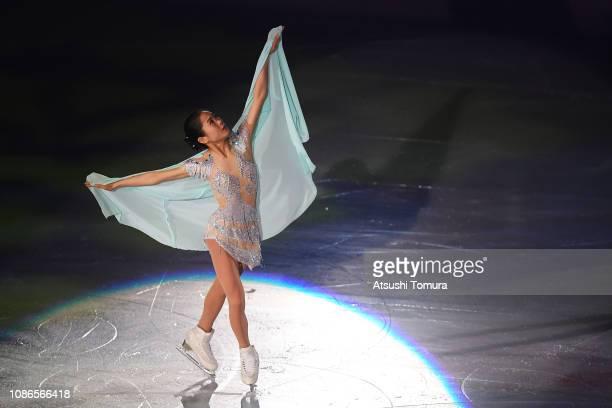 Satoko Miyahara performs her routine during the All Japan Medalist On Ice at Towa Yakuhin RACTAB Dome on December 25, 2018 in Kadoma, Osaka, Japan.