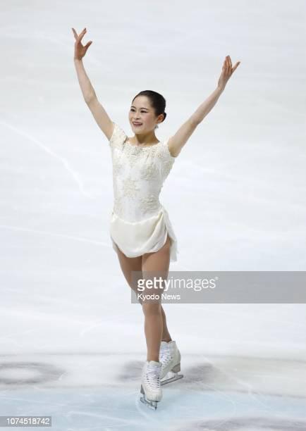 Satoko Miyahara performs her short program at Japan's national championships in Kadoma, Osaka, on Dec. 21, 2018. ==Kyodo