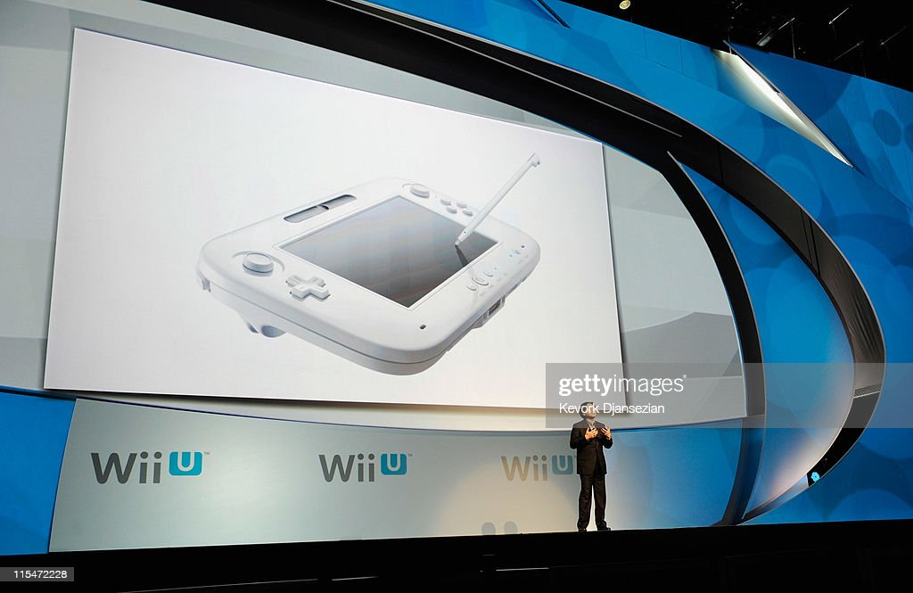 Satoru Iwata, Global President, Nintendo Co., Ltd., speaks during a news conference after the unveiling of the new game console Wii U at the Electronic Entertainment Expo on June 7, 2011 in Los Angeles, California. The Wii U will have HD graphics, a controller with a 6.2 inch touchscreen and be compatible with all other Wii accessories.