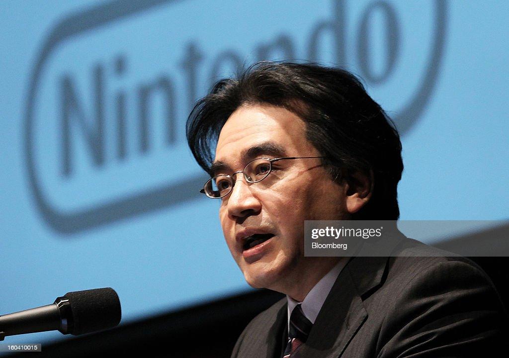 Nintendo President Satoru Iwata News Conference : News Photo