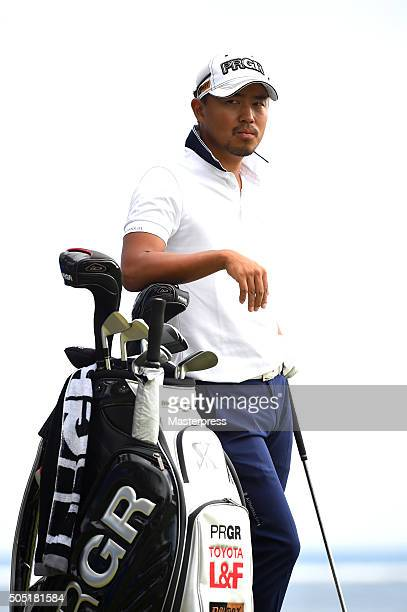 Satoshi Kodaira of Japan looks on during the second round of the Sony Open In Hawaii at Waialae Country Club on January 15 2016 in Honolulu Hawaii