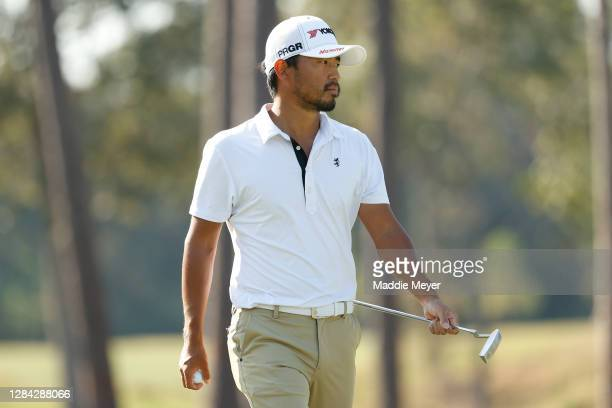 Satoshi Kodaira of Japan looks on from the seventh green during the second round of the Houston Open at Memorial Park Golf Course on November 06,...