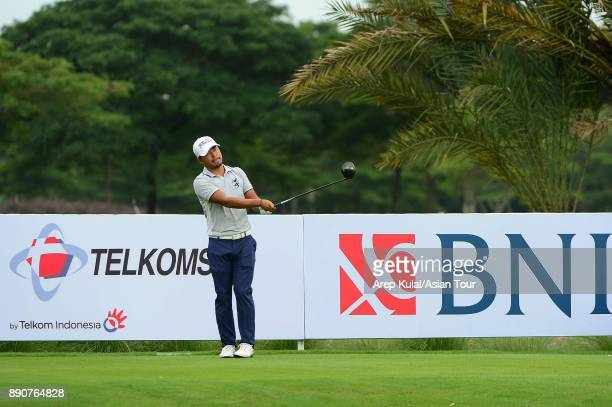 Satoshi Kodaira of Japan pictured during the Pro Am tournament ahead of the Indonesian Masters 2017 at Royale Jakarta Golf Club on December 12 2017...
