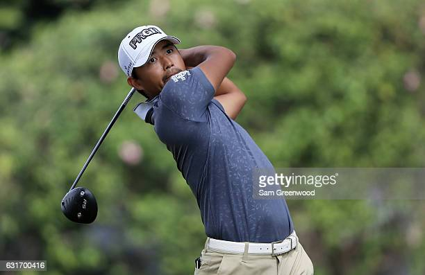Satoshi Kodaira of Japan plays a shot during the third round of the Sony Open In Hawaii at Waialae Country Club on January 14 2017 in Honolulu Hawaii