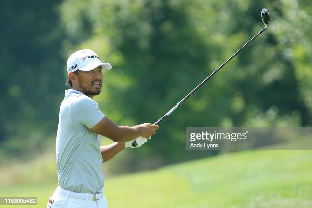 Satoshi Kodaira of Japan plays a shot on the 11th hole during the second round of the Barbasol Championship at Keene Trace Golf Club on July 19, 2019...