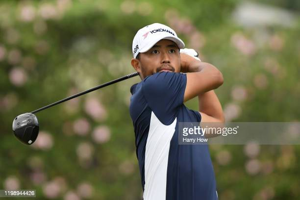 Satoshi Kodaira of Japan plays his shot from the eighth tee during the third round of the Sony Open in Hawaii at the Waialae Country Club on January...