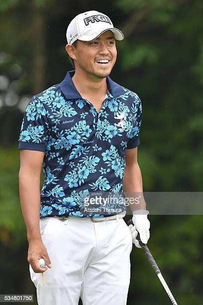 Satoshi Kodaira of Japan smiles during the 3rd round of the Mizuno Open at JFE Setonaikai Golf Club on May 28 2016 in Okayama Japan