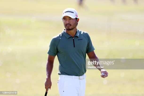 Satoshi Kodaira of Japan walks on the 10th hole during the third round of the Houston Open at Memorial Park Golf Course on November 07, 2020 in...