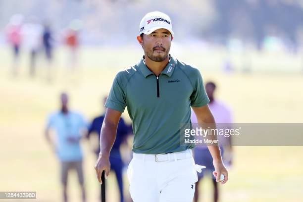 Satoshi Kodaira of Japan walks on the 12th hole during the third round of the Houston Open at Memorial Park Golf Course on November 07, 2020 in...