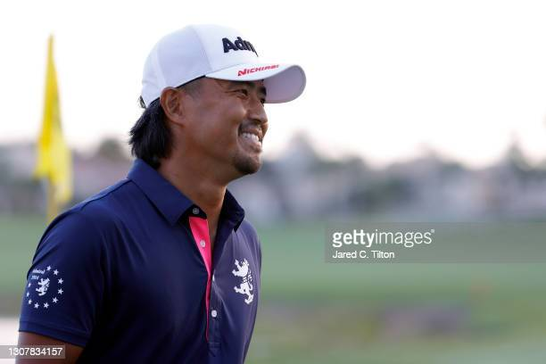 Satoshi Kodaira of Japan walks on the 18th hole during the first round of The Honda Classic at PGA National Champion course on March 18, 2021 in Palm...