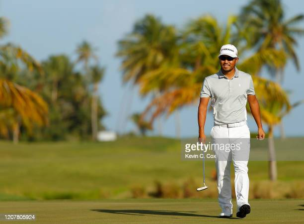 Satoshi Kodaira of Japan walks the 13th hole during the second round of the Puerto Rico Open at Grand Reserve Country Club on February 21, 2020 in...