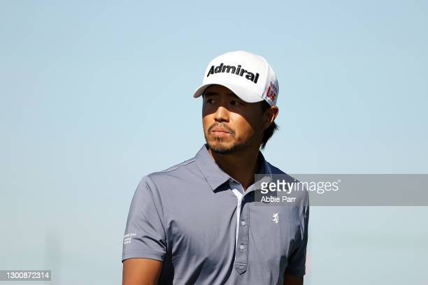Satoshi Kodaira of Japan walks to the 15th tee during the final round of the Waste Management Phoenix Open at TPC Scottsdale on February 07, 2021 in...