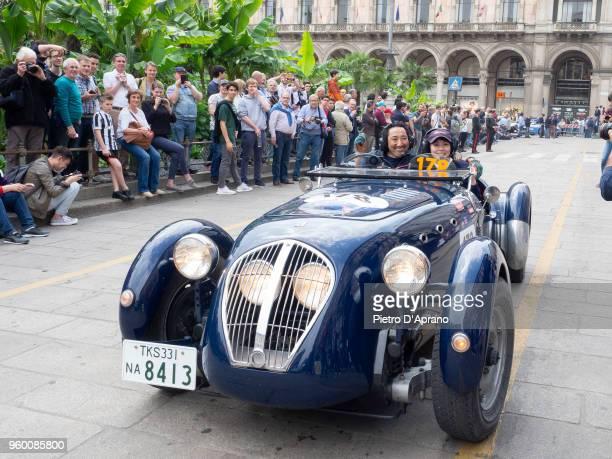 Satoshi Koshikawa and Yayoi Koshikawa attends 1000 Miles Historic Road Race on May 19 2018 in Milan Italy