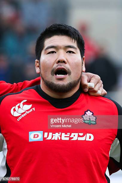 Satoshi Nakatani of Japan during the Test match between Fiji and Japan at Stade de la Rabine on November 26 2016 in Vannes France