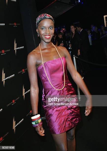Satou N'Diaye attends the Black Legend opening party on October 29 2009 in MonteCarlo Monaco